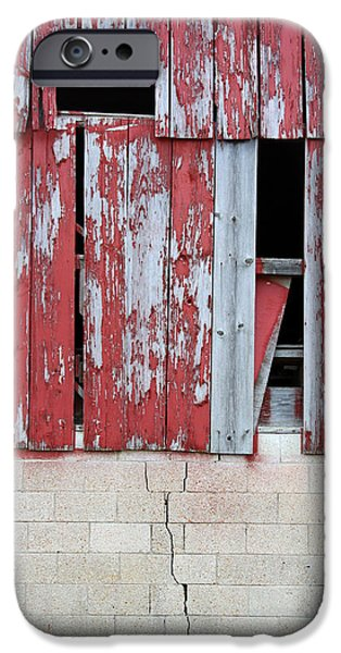 Old Barn Paintings iPhone Cases - Old Barn - 2 iPhone Case by John Lautermilch