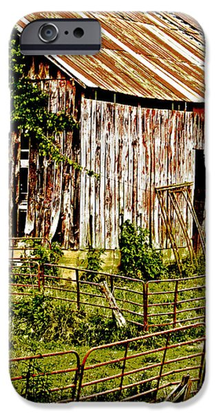 Sheets iPhone Cases - Old Barn #3 iPhone Case by Tom Gari Gallery-Three-Photography