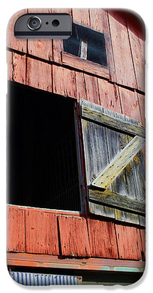 Old Barn Paintings iPhone Cases - Old Barn - 3 iPhone Case by John Lautermilch