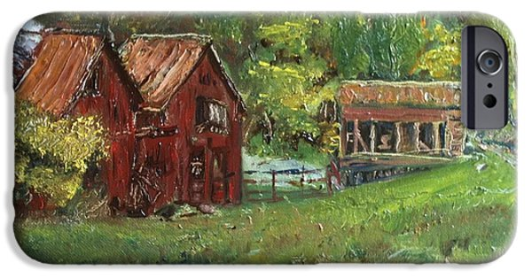 Old Barns iPhone Cases - Old Barn and Chicken Coop iPhone Case by Anna Willard