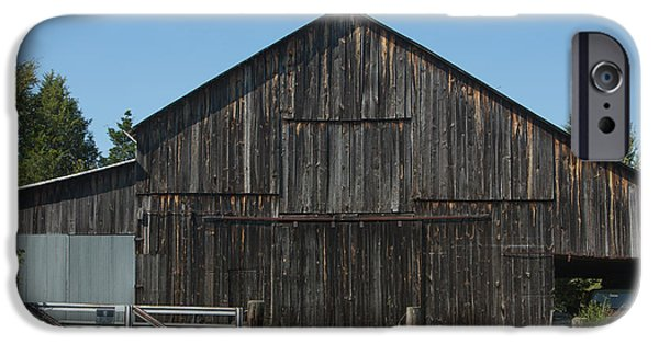 Old Barn iPhone Cases - Old Barn and Truck iPhone Case by Kay Pickens