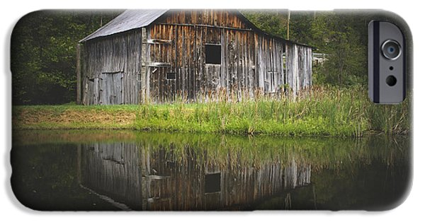 Barns iPhone Cases - Old Barn At The Farm iPhone Case by Shane Holsclaw