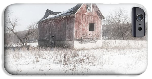 Old Barns iPhone Cases - Old Barn - Brokeback shack iPhone Case by Gary Heller