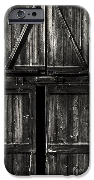 Old Barn Door - BW iPhone Case by Paul W Faust -  Impressions of Light