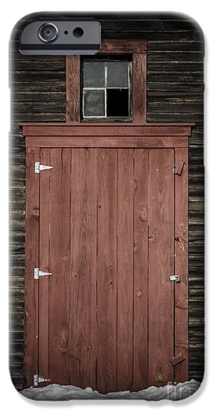 Windsor iPhone Cases - Old Barn Door iPhone Case by Edward Fielding
