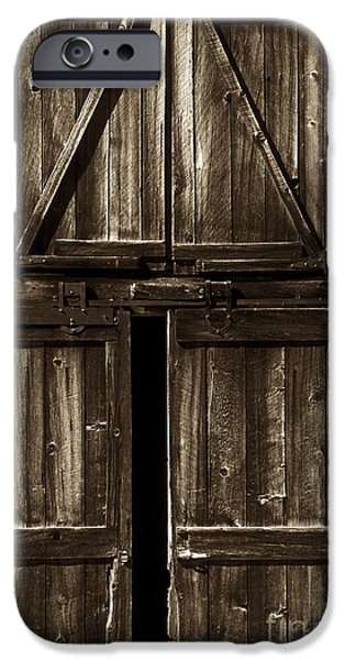 Old Barn Door - toned iPhone Case by Paul W Faust -  Impressions of Light