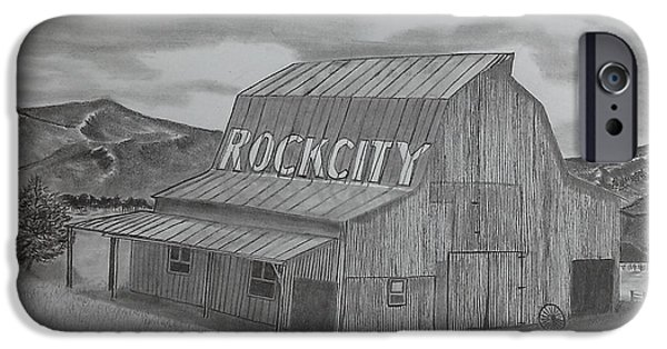 Tennessee Drawings iPhone Cases - Old Barn II iPhone Case by Tony Clark