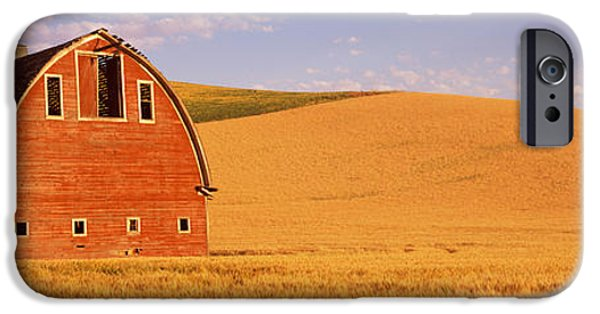Old Barn iPhone Cases - Old Barn In A Wheat Field, Palouse iPhone Case by Panoramic Images