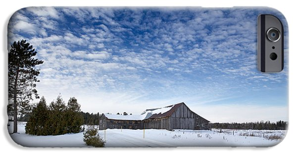 Farming Barns iPhone Cases - Old barn in Beauce iPhone Case by Jane Rix