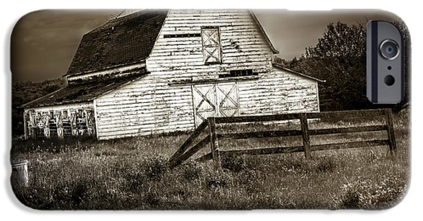 Old Barns iPhone Cases - Old Barn in Bethel iPhone Case by Madeline Ellis