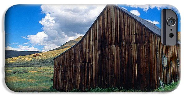 Old Barns iPhone Cases - Old Barn in Bodie iPhone Case by Kathy Yates