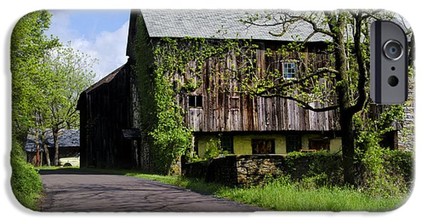 Old Barn iPhone Cases - Old Barn in Bucks County Pa iPhone Case by Bill Cannon