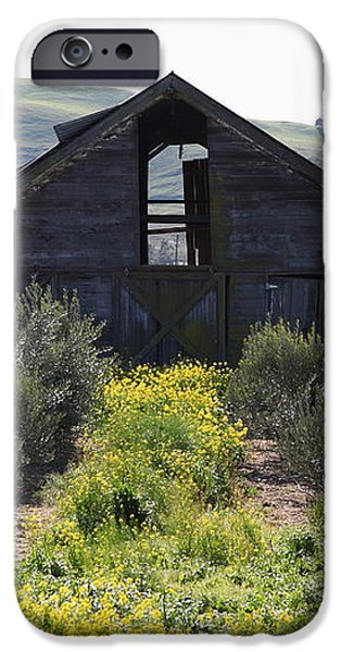 Old Barn in Sonoma California 5D22236 iPhone Case by Wingsdomain Art and Photography