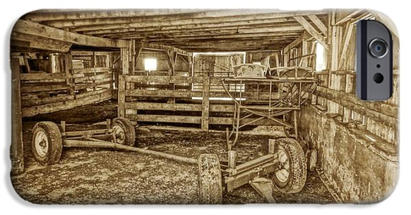 Old Barns iPhone Cases - Old Barn Interior iPhone Case by Dan Sproul
