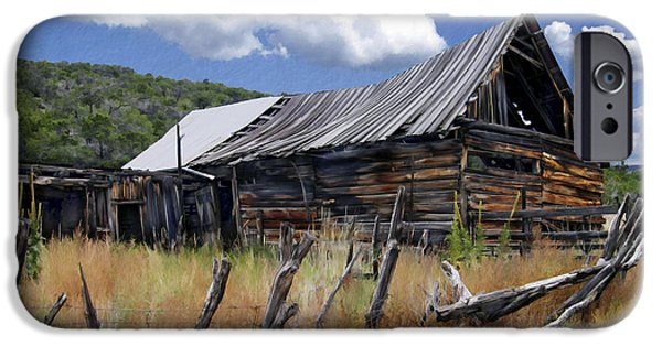 Old Barn iPhone Cases - Old Barn Las Trampas New Mexico iPhone Case by Kurt Van Wagner