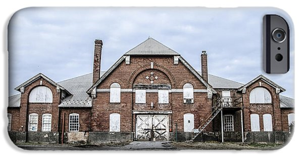 Old Barns iPhone Cases - Old Barn - Norristown Farm Park iPhone Case by Bill Cannon