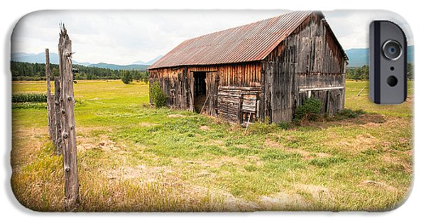 Old Barns iPhone Cases - Old barn on Highway 86 - Rustic Barn iPhone Case by Gary Heller