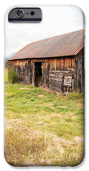 Old barn on Highway 86 - Rustic Barn iPhone Case by Gary Heller