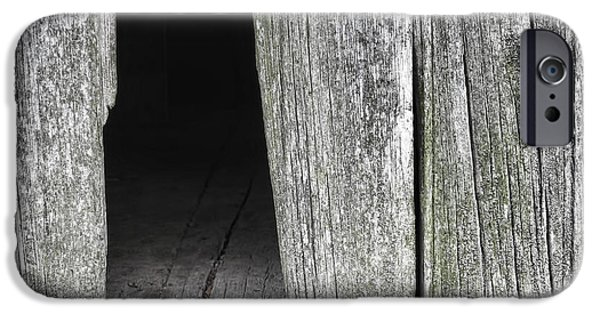 Blight iPhone Cases - Old Barn Wall iPhone Case by Olivier Le Queinec