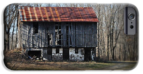 Old Barns iPhone Cases - Old Barn with Tin Roof iPhone Case by Bill Cannon