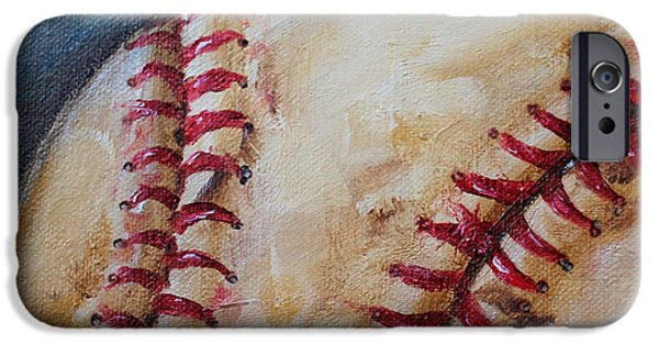 Red Sox iPhone Cases - Old Baseball iPhone Case by Kristine Kainer