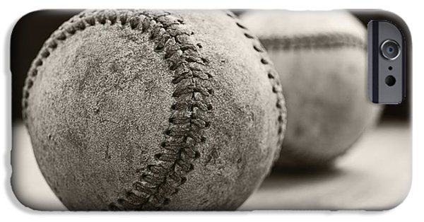 Balls Photographs iPhone Cases - Old Baseballs iPhone Case by Edward Fielding