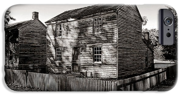 Clapboard House iPhone Cases - Old Batsto iPhone Case by Olivier Le Queinec