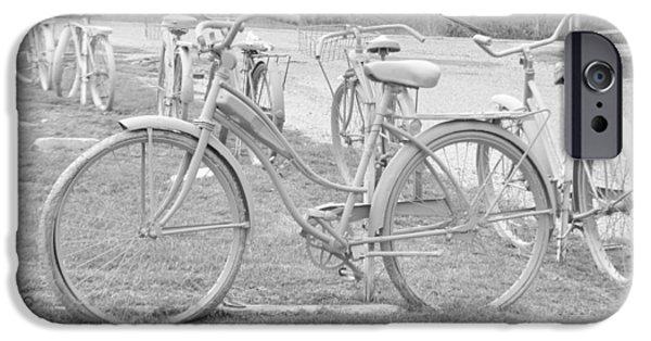 Summer iPhone Cases - Old Bicycles iPhone Case by Vonda Barnett