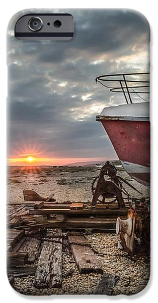 Old Boat at Sunset iPhone Case by Ivor Toms