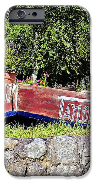 Old Boat Planter iPhone Case by Susan Leggett