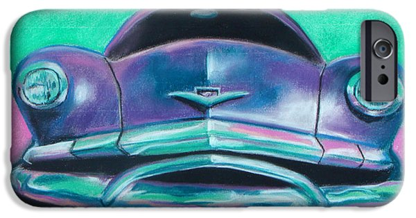 Vintage Car Pastels iPhone Cases - Old Bomber iPhone Case by Michael Foltz
