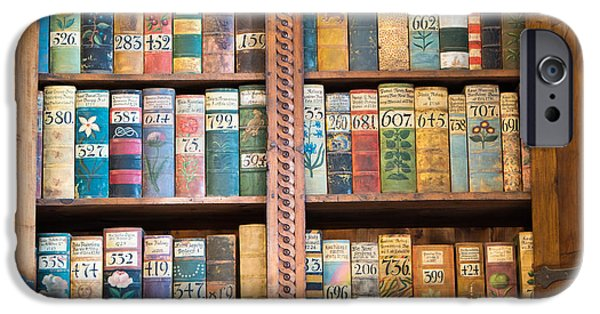 Bookcase iPhone Cases - Old books in prague iPhone Case by Matthias Hauser