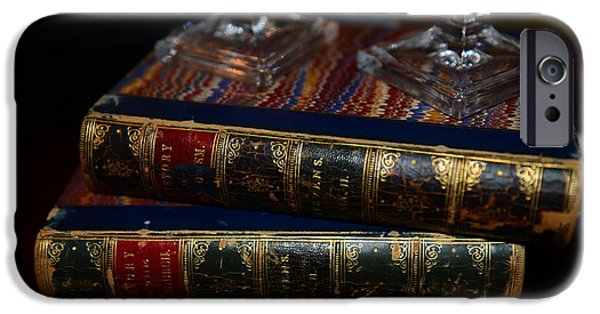 Bookcase iPhone Cases - Old Books iPhone Case by Paul Ward