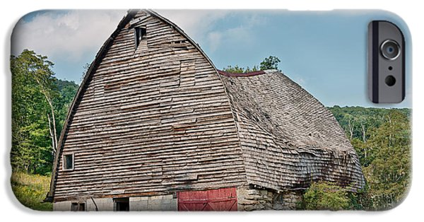 Old Barns iPhone Cases - Old Broke Down Barn iPhone Case by Dusty Phillips