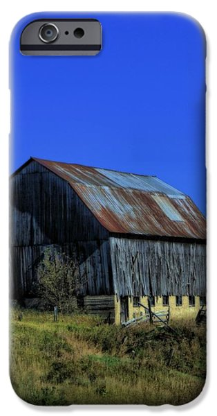 Old Broken Down Barn In Ohio iPhone Case by Dan Sproul