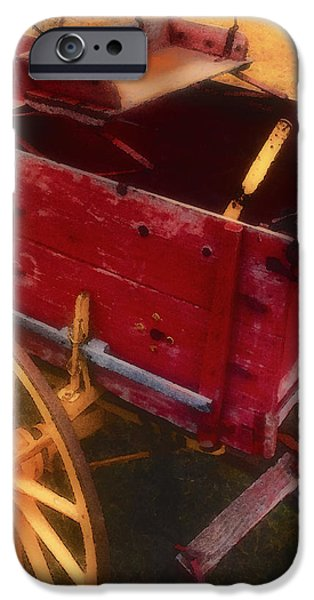 Wooden Wagons iPhone Cases - Old Buck iPhone Case by Stephen Anderson