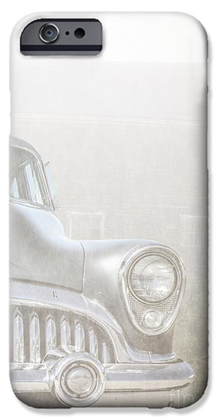Foggy iPhone Cases - Old Buick Out by the Barn iPhone Case by Edward Fielding