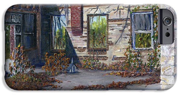 Stonewall Paintings iPhone Cases - Old Building in Stonewall Louisiana  iPhone Case by Lenora  De Lude