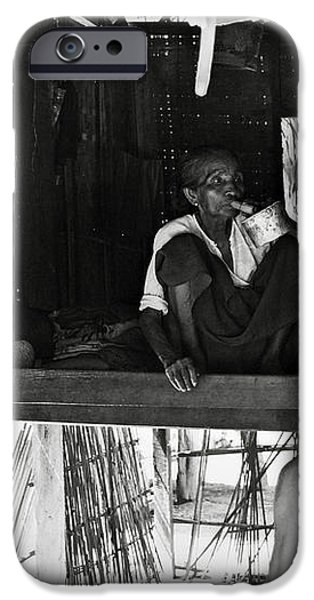 Old burmese smoker woman iPhone Case by RicardMN Photography