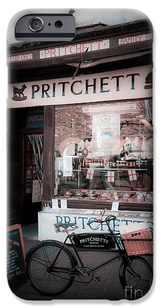 Character Portraits Photographs iPhone Cases - Old Butchers Shop iPhone Case by Peter Noyce