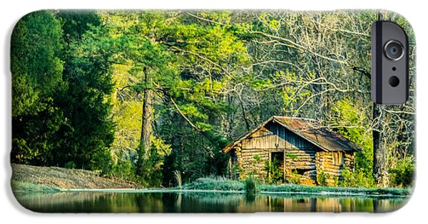 Recently Sold -  - Old Barns iPhone Cases - Old Cabin By The Pond iPhone Case by Parker Cunningham