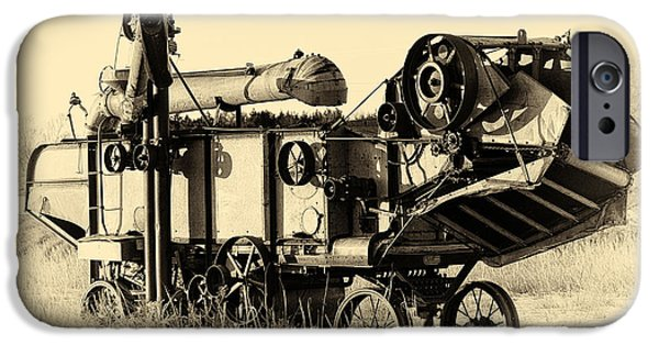 Sheets iPhone Cases - Old Case Thresher iPhone Case by Bill Kesler