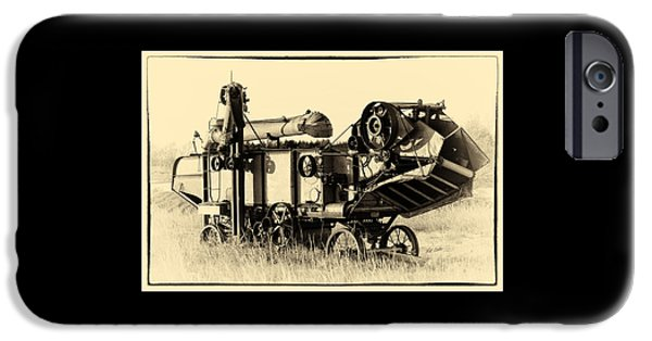 Machinery iPhone Cases - Old Case Thresher iPhone Case by Bill Kesler