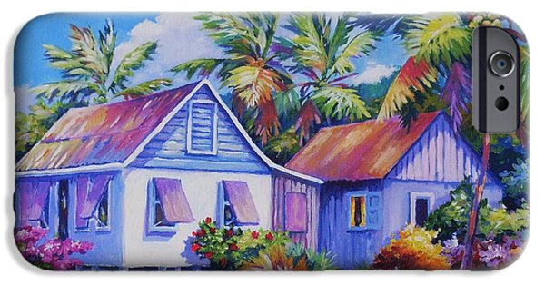 Cuba iPhone Cases - Old Cayman Cottages iPhone Case by John Clark