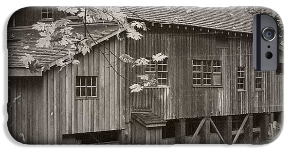 Grist Mill Mixed Media iPhone Cases - Old Cedar Creek Grist Mill  iPhone Case by Chalet Roome-Rigdon