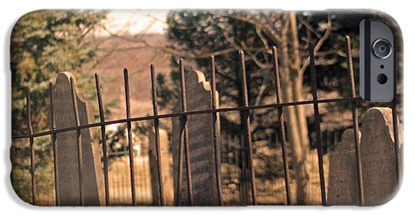 Cemetary iPhone Cases - Old Cemetery iPhone Case by Stephanie Hanson