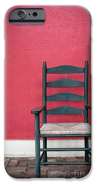 Ladder Back Chairs iPhone Cases - Restful spot Cornish New Hampshire iPhone Case by Edward Fielding