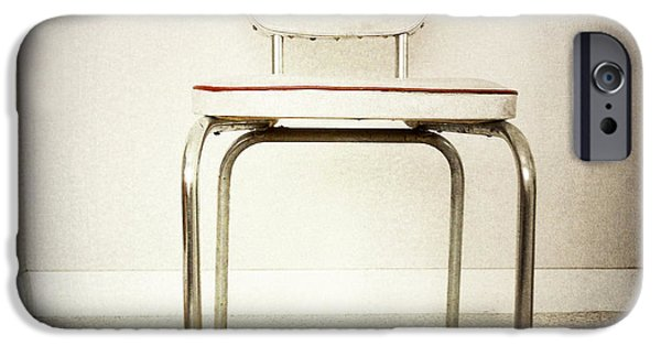 Furniture iPhone Cases - Old chair iPhone Case by Les Cunliffe