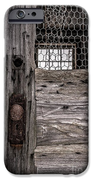 Agricultural iPhone Cases - Old Chicken Coop iPhone Case by Edward Fielding