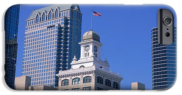 Municipal iPhone Cases - Old City Hall Cityscape Tampa Fl iPhone Case by Panoramic Images